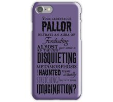 A Disquieting Metamorphosis iPhone Case/Skin