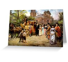 George Washington Arriving At Christ Church Greeting Card