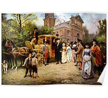 George Washington Arriving At Christ Church Poster