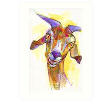 Goat drawing - 2011 Art Print