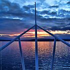 Sunset from the Ferry by rocamiadesign