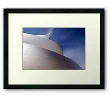 Glowing Metal Skin  - Disney Hall Framed Print