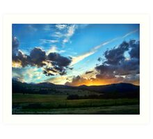 Sunset on the Rez (Montana, USA) Art Print