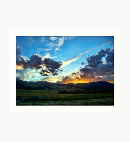 Sunset on the Rez (Montana, USA) Art Print