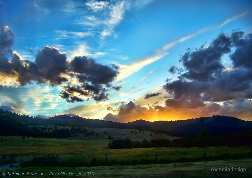 Sunset on the Rez (Montana, USA) by rocamiadesign