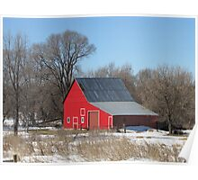 The Bright Red Barn Poster
