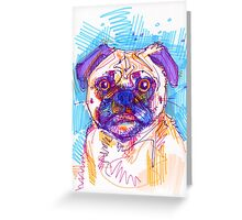 Pug drawing - 2011 Greeting Card
