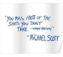Michael Scott's Quote Poster
