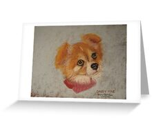 Daisy Mae - long-haired Chihuahua Greeting Card