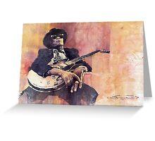 Jazz John Lee Hooker Greeting Card