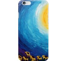Sunflowers at sunset iPhone Case/Skin