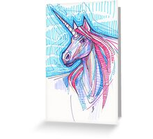 Unicorn drawing - 2015 Greeting Card