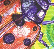Ladybug drawing - 2015 Sticker
