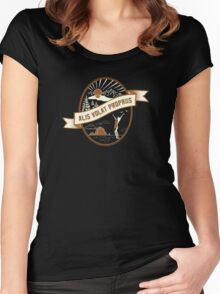 """Oregon Love!! State Motto - Alis Volat Propriis """"She Flies with Her Own Wings""""   Women's Fitted Scoop T-Shirt"""