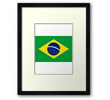 Brazil World Cup Flag - Brazilian T-Shirt Framed Print