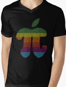 Apple Pi Mens V-Neck T-Shirt