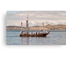 Japanese Hachoro boat replica Canvas Print