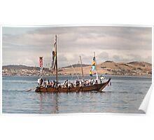 Japanese Hachoro boat replica Poster