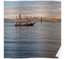 Japanese replica hachoro boat Poster