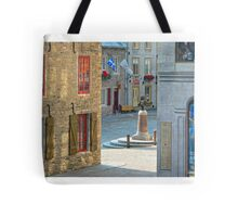 Rue Sous-le-Fort And Louis XIV Monument, Old Quebec City Tote Bag