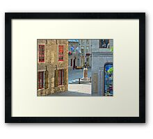 Rue Sous-le-Fort And Louis XIV Monument, Old Quebec City Framed Print