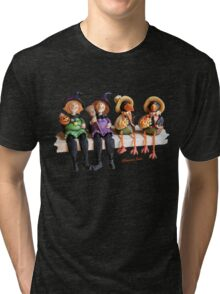 Tell Us A Happy Halloween Story! Tri-blend T-Shirt