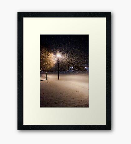Peaceful Snowstorm Framed Print