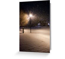 Peaceful Snowstorm Greeting Card