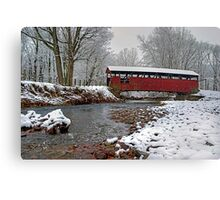 Snowy Muncy Creek Crossing Canvas Print