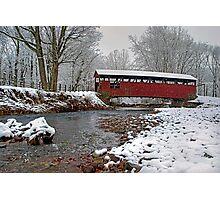 Snowy Muncy Creek Crossing Photographic Print