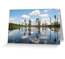 Clouds, Trees and Water Greeting Card