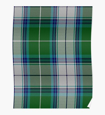 00467 The Blue Spruce Fashion Tartan  Poster