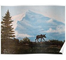 Moose in Alaska Poster