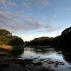 Maine River at August Sunset by Joe Jennelle