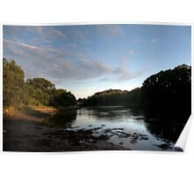 Maine River at August Sunset Poster