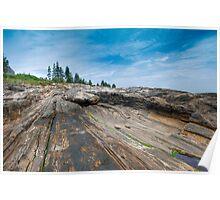 Pemaquid Point Maine Granite Striations Poster