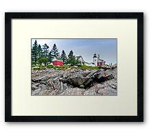 Pemaquid Point Lighthouse on The Rocks Framed Print