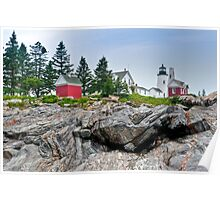 Pemaquid Point Lighthouse on The Rocks Poster