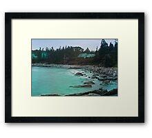 Aqua Bay Framed Print
