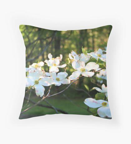 Dogwood Delight Throw Pillow