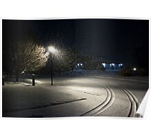Peaceful Snowstorm-Tracks Poster