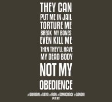 NOT MY OBEDIENCE by Yago