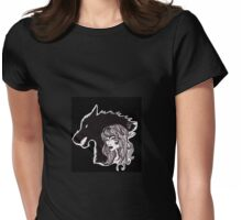 Wolf Within version 2 Womens Fitted T-Shirt