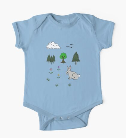 Nature Diorama Stickers  One Piece - Short Sleeve