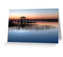 Dock at Dawn Greeting Card