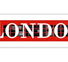 London Phone Booth Graphic Sticker