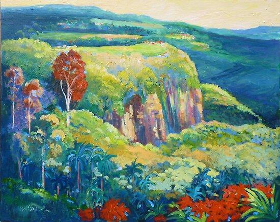 Escarpment Tamborine by Virginia McGowan