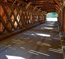 Inside a Covered Bridge by Joe Jennelle