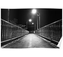 Down to Somewhere - Footbridge at night Poster