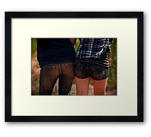 Two bums! Framed Print